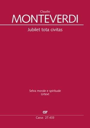 Jubilet tota civitas SV 286 - MONTEVERDI - laflutedepan.com