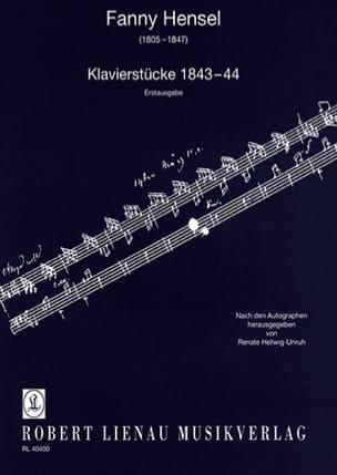 Klavierstücke 1843-44 - Fanny Hensel-Mendelssohn - laflutedepan.com