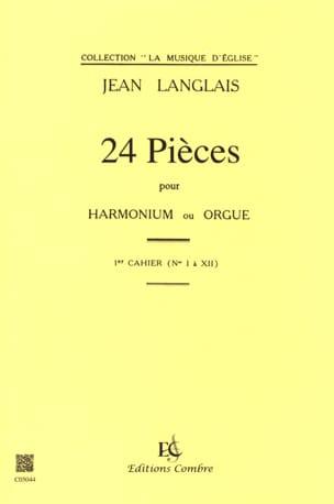 24 Pièces Opus 6. 1er cahier Jean Langlais Partition laflutedepan