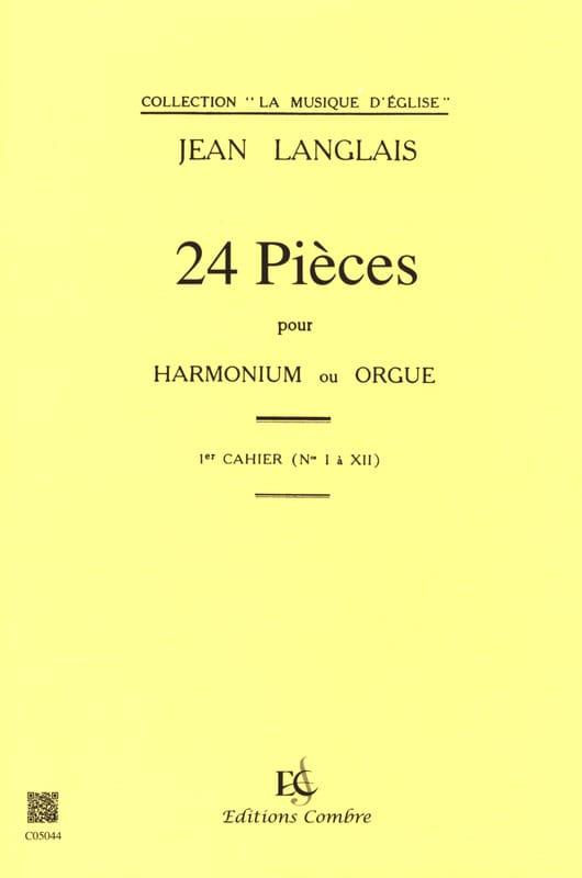 24 Pièces Opus 6. 1er cahier - Jean Langlais - laflutedepan.com