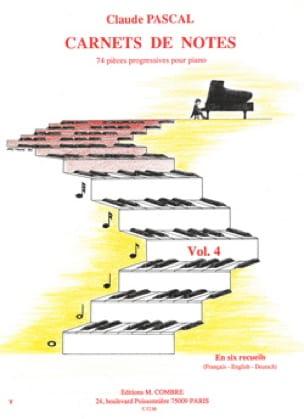 Carnets De Notes - Volume 4 - Claude Pascal - laflutedepan.com