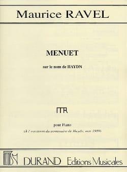 Menuet sur le nom de HAYDN RAVEL Partition Piano - laflutedepan
