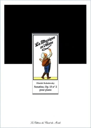 Sonatine Opus 13 N° 2 KABALEVSKY Partition Piano - laflutedepan