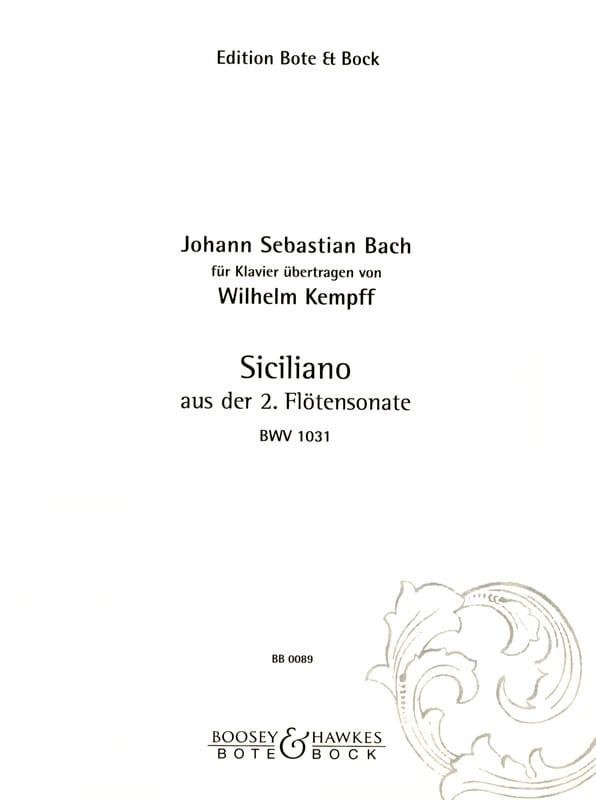 Sicilienne De La Sonate Pour Flûte N°2 - laflutedepan.com