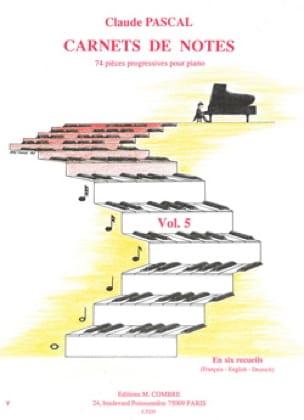 Carnets de Notes Volume 5 - Claude Pascal - laflutedepan.com