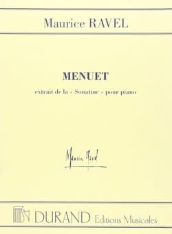 Menuet de la Sonatine RAVEL Partition Piano - laflutedepan