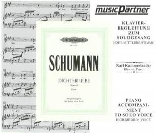 Dichterliebe Opus 48. Voix Haute. CD SCHUMANN Partition laflutedepan