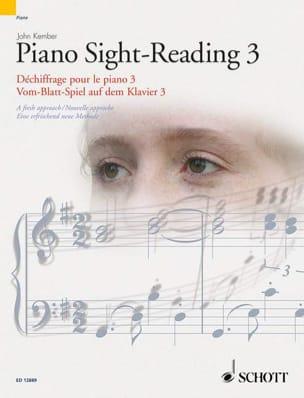 Piano Sight-Reading Volume 3 John Kember Partition laflutedepan
