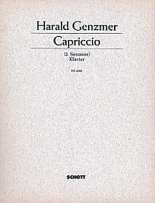 Capriccio 1950 Harald Genzmer Partition Piano - laflutedepan