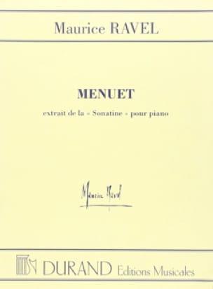 Menuet de la Sonatine - RAVEL - Partition - Piano - laflutedepan.com