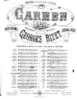 BIZET - Speak to me about my mother. Carmen - Partition - di-arezzo.co.uk