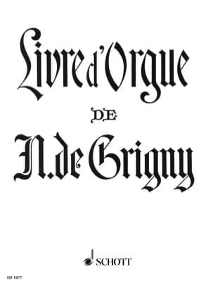 Livre d'Orgue Nicolas de Grigny Partition Orgue - laflutedepan