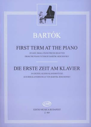 First Term At The Piano BARTOK Partition Piano - laflutedepan