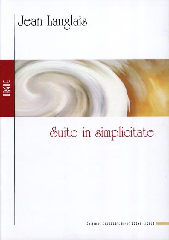 Suite In Simplicitate. - Jean Langlais - Partition - laflutedepan.com