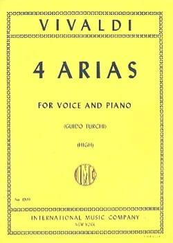 4 Arias Voix Haute VIVALDI Partition Mélodies - laflutedepan