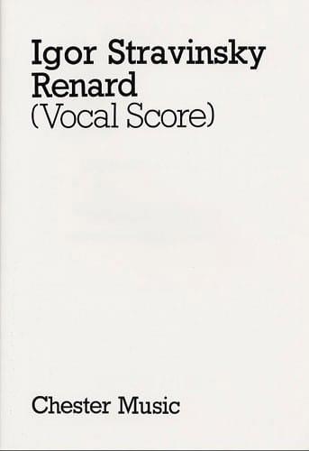 Renard - STRAVINSKY - Partition - Opéras - laflutedepan.com