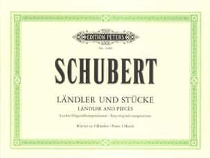 Ländler und Stücke. 4 Mains SCHUBERT Partition Piano - laflutedepan