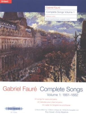 Complete songs Volume 1 Voix Moyenne FAURÉ Partition laflutedepan