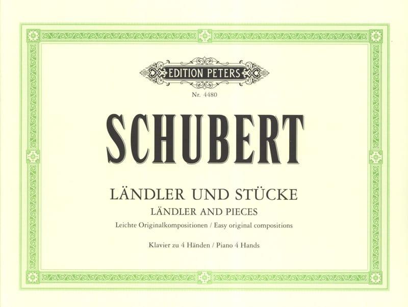 Ländler und Stücke. 4 Mains - SCHUBERT - Partition - laflutedepan.com