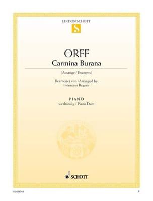 Carmina Burana. 4 Mains ORFF Partition Piano - laflutedepan
