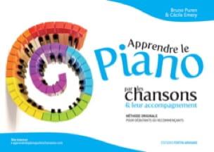Apprendre le piano par les chansons & leur accompagnement. Volume 1 - laflutedepan.com