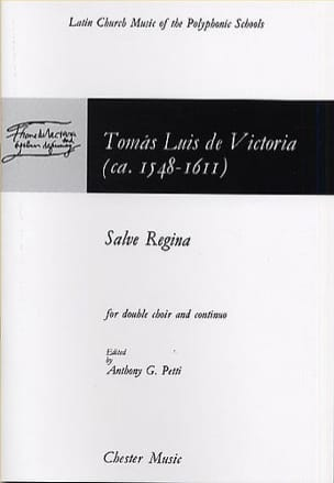 Salve Regina Tomas Luis de Victoria Partition Chœur - laflutedepan