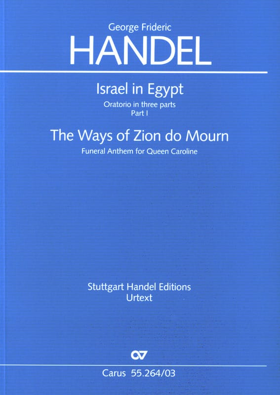 The Ways Of zion Do Mourn - Israel in Egypt Hwv 264 - laflutedepan.com