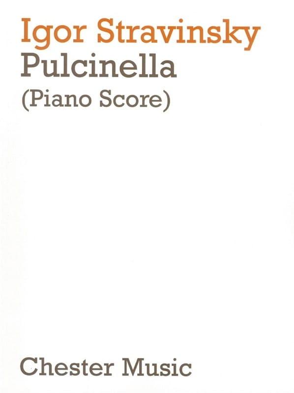 Pulcinella - STRAVINSKY - Partition - Opéras - laflutedepan.com