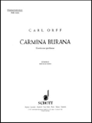 Carmina Burana Choeur Hommes - ORFF - Partition - laflutedepan.com