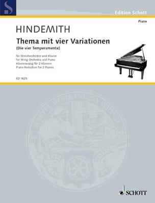 Thème Avec 4 Variations. 2 Pianos HINDEMITH Partition laflutedepan