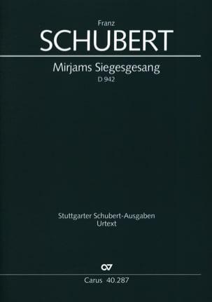 Mirjam's Siegesgesang D 942 SCHUBERT Partition Chœur - laflutedepan