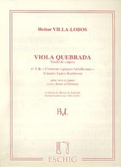 Viola Quebrada VILLA-LOBOS Partition Mélodies - laflutedepan