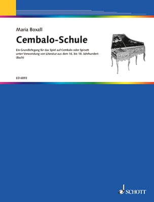 Cembalo-Schule - Maria Boxall - Partition - laflutedepan.com