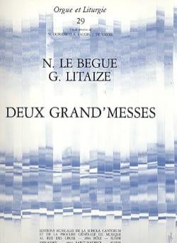 2 Grand'messes Lebègue Nicolas / Litaize Gaston Partition laflutedepan