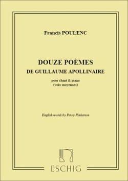 12 Poèmes de Guillaume Apollinaire POULENC Partition laflutedepan