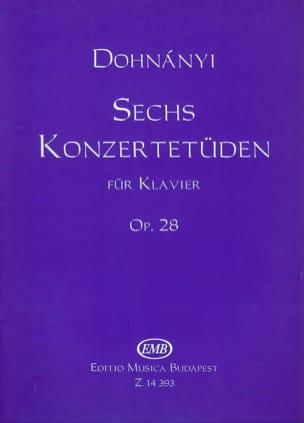 6 Konzertetuden Opus 28 DONHANYI Partition Piano - laflutedepan
