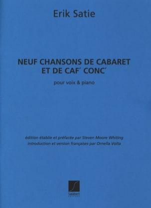 9 Chansons de cabaret et de caf'conc' SATIE Partition laflutedepan