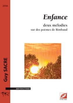 Enfance - Guy Sacre - Partition - Mélodies - laflutedepan.com