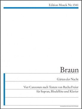 Gärten der Nacht Gerhard Braun Partition laflutedepan