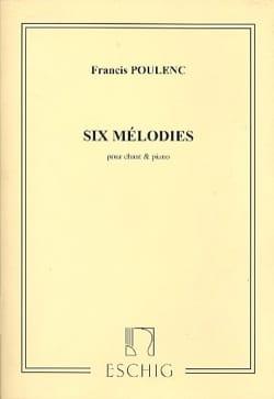 6 Mélodies POULENC Partition Mélodies - laflutedepan
