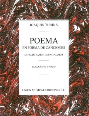 Poema En Forma de Canciones TURINA Partition Mélodies - laflutedepan