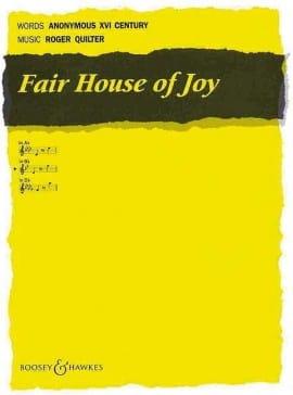 Fair House of Joy Opus 12-7 Roger Quilter Partition laflutedepan