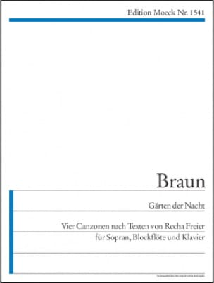 Gärten der Nacht - Gerhard Braun - Partition - laflutedepan.com