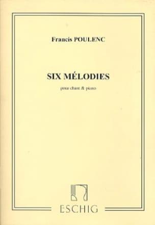 6 Mélodies - POULENC - Partition - Mélodies - laflutedepan.com
