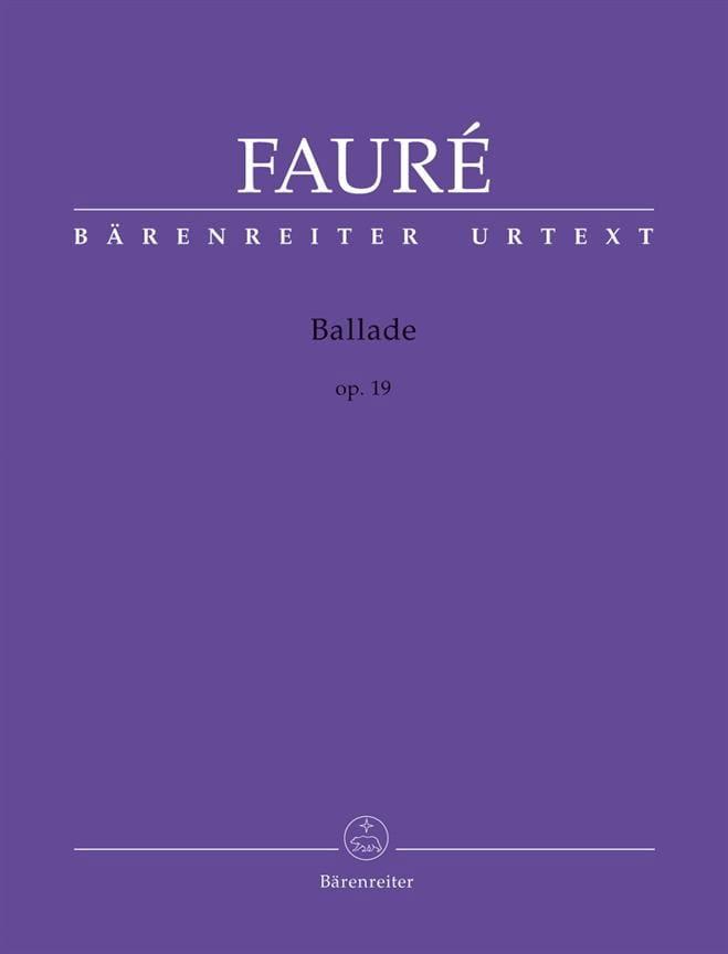 Ballade Opus 19 - FAURÉ - Partition - Piano - laflutedepan.com