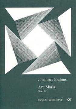 Ave Maria Opus 12 BRAHMS Partition Chœur - laflutedepan