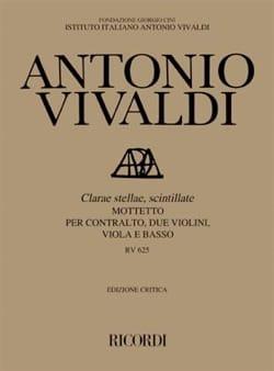 VIVALDI - Clarae Stellae, Scintillatte RV 625. Driver - Partition - di-arezzo.co.uk