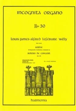 Sortie / Boléro de Concert Opus 166 LEFÉBURE-WÉLY laflutedepan