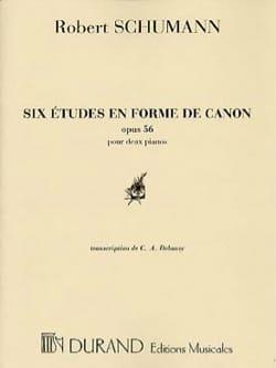 6 Etudes En Forme de Canon Opus 56. 2 Pianos. SCHUMANN laflutedepan
