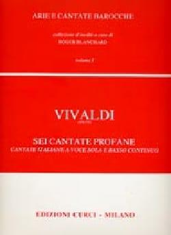 6 Cantate Profane Volume 1 VIVALDI Partition Mélodies - laflutedepan